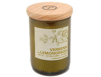 Verbena & Lemongrass Upcycled ECO Candle - The Little Green Store and Gallery