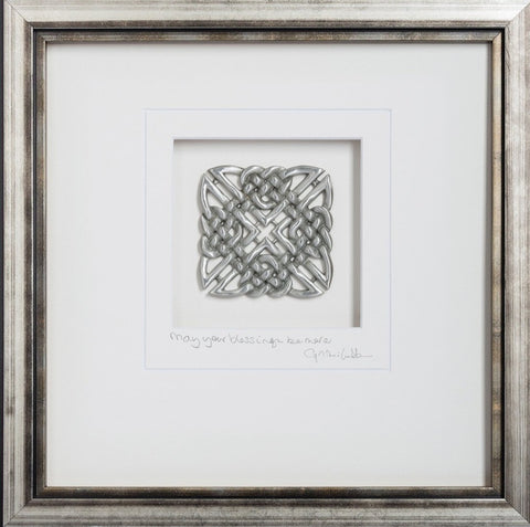 "Celtic Knot Square: ""May your troubles be less, and your blessings be more"""