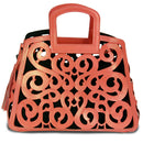 Leather Filigree Tote