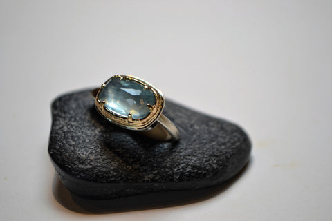 Aquamarine Ring - The Little Green Store and Gallery