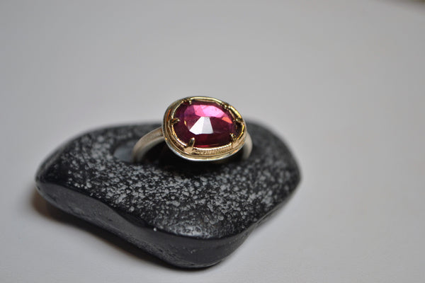 Pink Sapphire Ring - The Little Green Store and Gallery