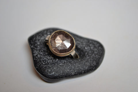 Brown Sapphire Ring - The Little Green Store and Gallery
