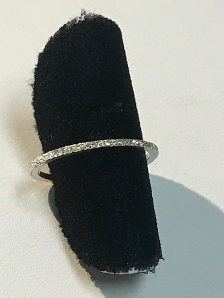 Diamond dusted stacker ring