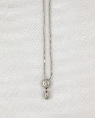 Double Sterling Silver Necklace