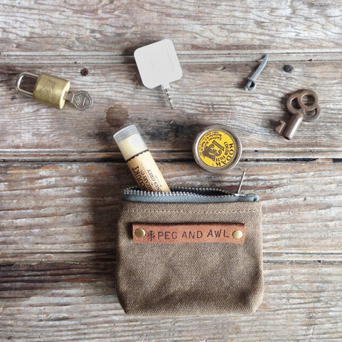 Peg & Awl Peewee Pouch - The Little Green Store and Gallery