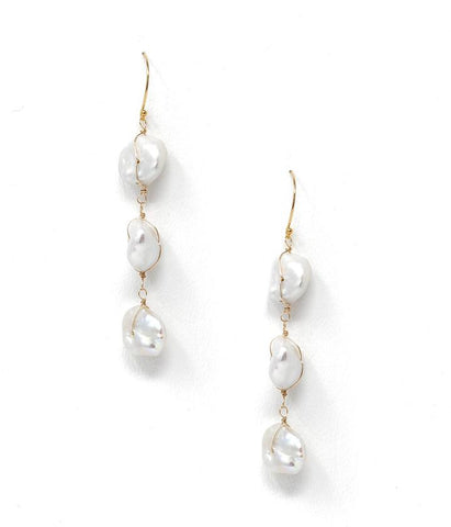 Kozakh Pearl Dangle Earring
