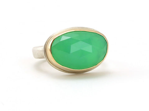 Chrysoprase Ring - The Little Green Store and Gallery