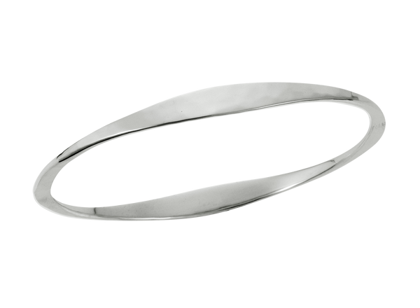 Ed Levin Hammered oval bangle