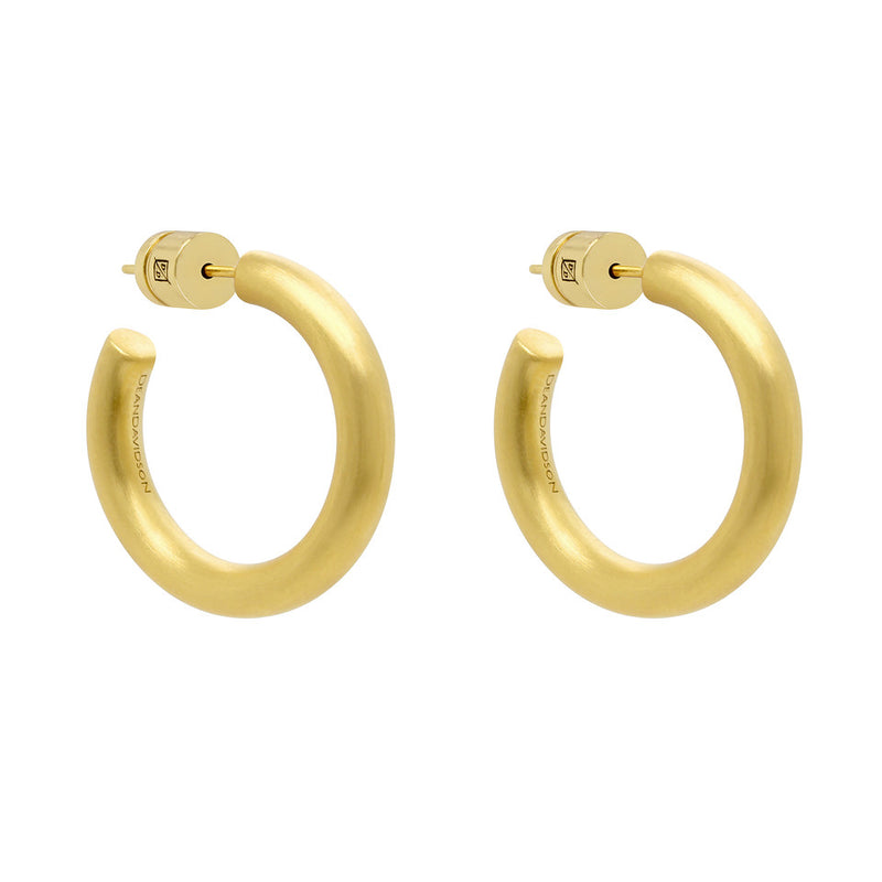 Small Dune Hoop Earrings