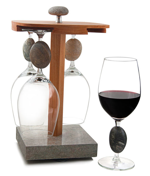 Sea Stones Wine Glass Display