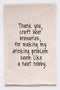 "Ellembee ""Thank You, Craft Beer"" Tea Towel"