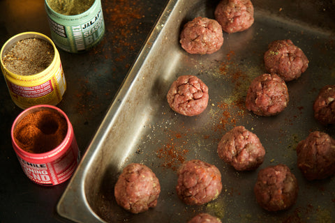 Roll the mix into tablespoon sized meatballs