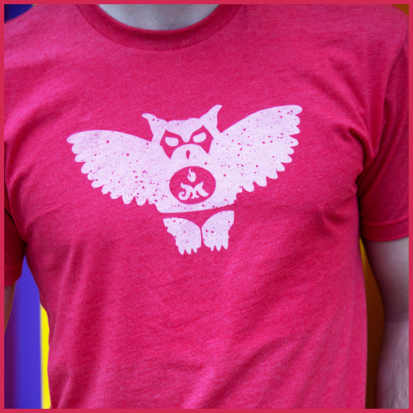 Red Men's Owl Tee