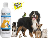 Allerpet Pet Dander Remover, 12 oz Bottle + Bonus Pet Mitt Applicator to Easily Apply Solution to Your Pet