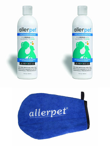 2 Pack Allerpet Dog Dander Remover, 12 oz Bottles