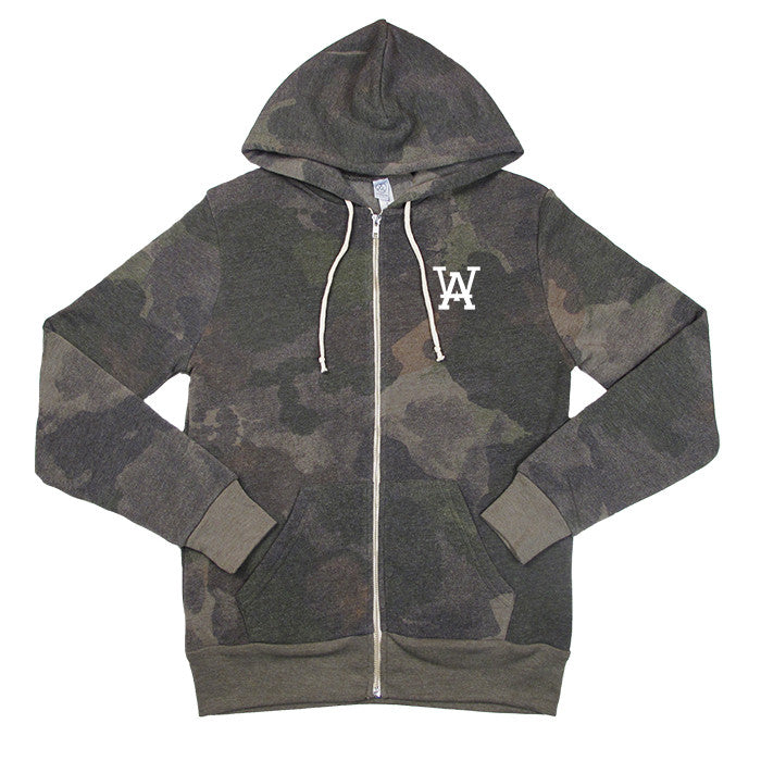 Camo Embroidered Full Zip