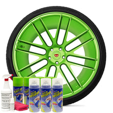 Gloss Electric Lime Green Wheel Kit