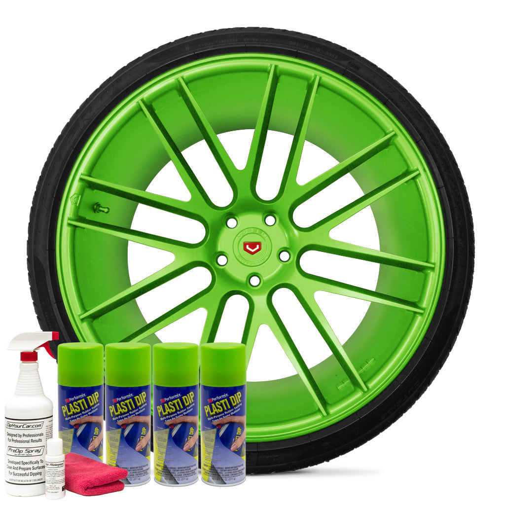 Matte Electric Lime Green Wheel Kit