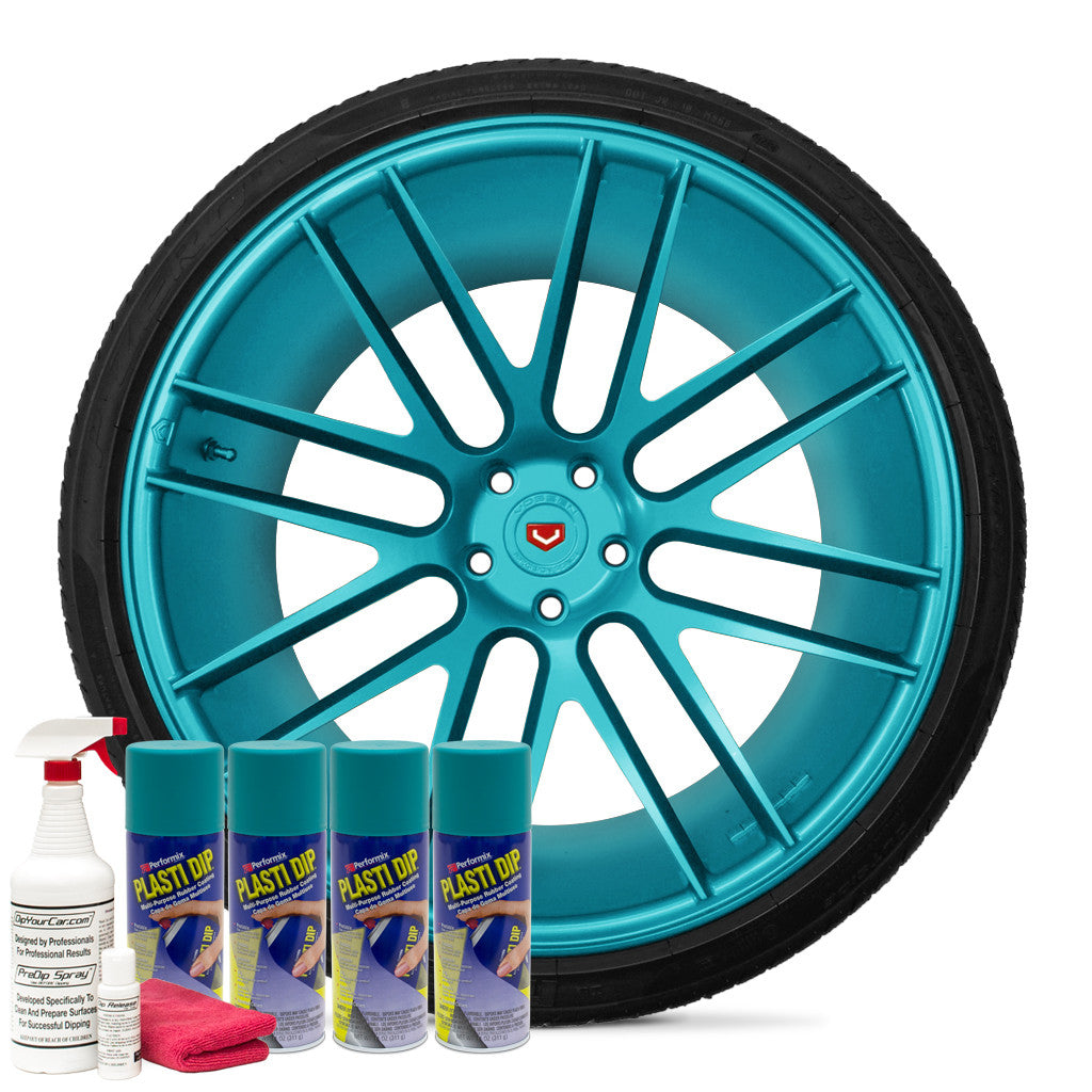 Matte Intense Teal Wheel Kit
