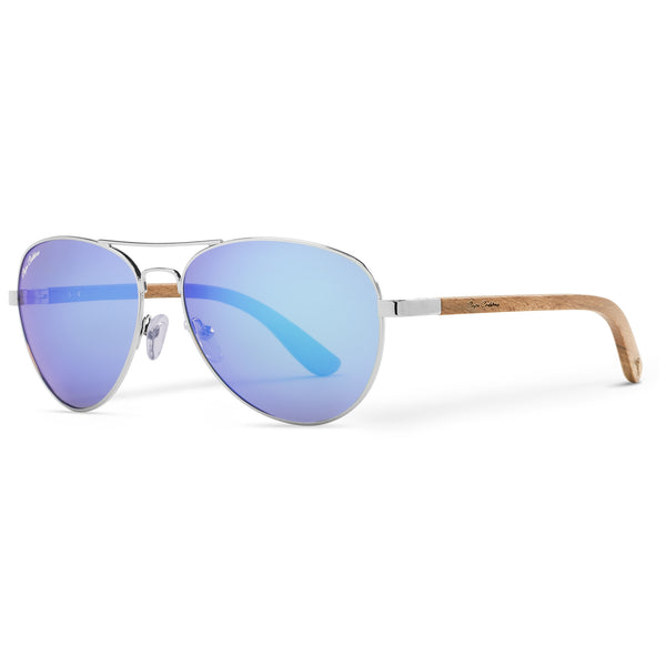Beechwood Vineyard Aviators Vintage | Blue Flash Lenses