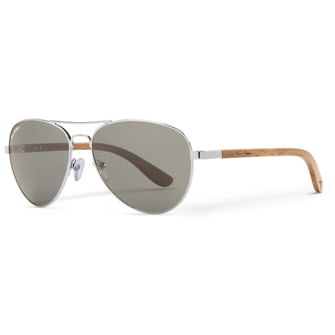Beechwood Vineyard Aviators Vintage | Grey Lenses