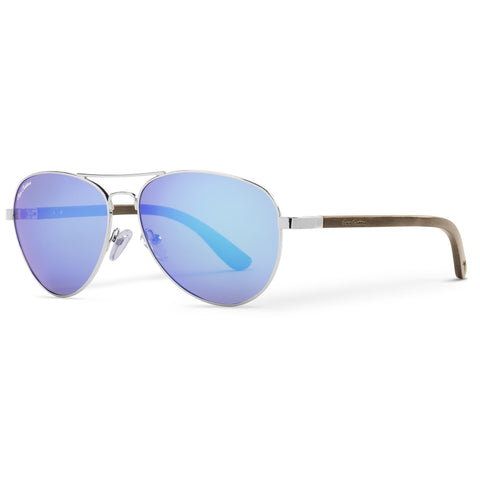 Blackwood Vineyard Aviators Vintage | Blue Flash Lenses