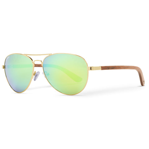 Golden Vineyard Aviators Vintage | Green Flash Lenses