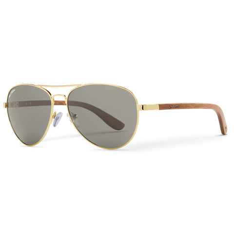 Golden Vineyard Aviators Vintage | Grey Lenses