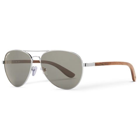 Redwood Vineyard Aviators Vintage | Grey Lenses