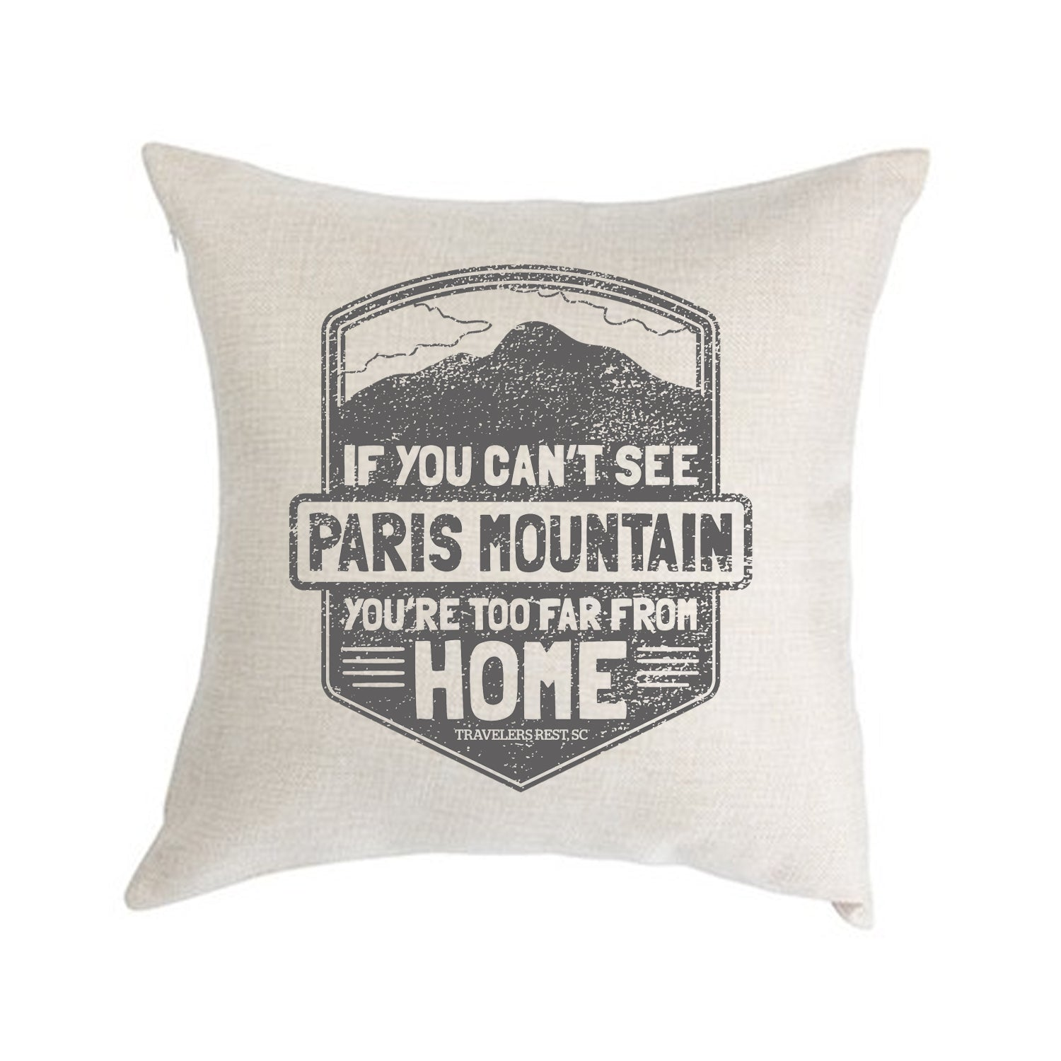 If You Cant See Paris Mountain Pillow