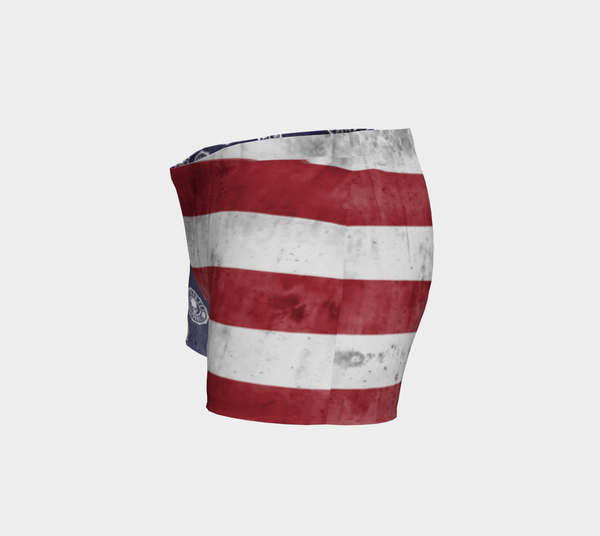 NOT DEAD YET LADIES FLAG SHORTS - Not Dead Yet Apparel