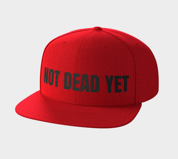 NOT DEAD YET Red Snap Back - Not Dead Yet Apparel