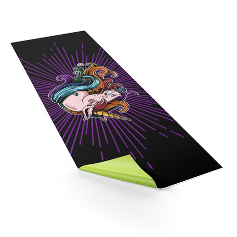 UNICORN! Ain't Nuthin Ta F' Wit! Yoga mat - Not Dead Yet Apparel