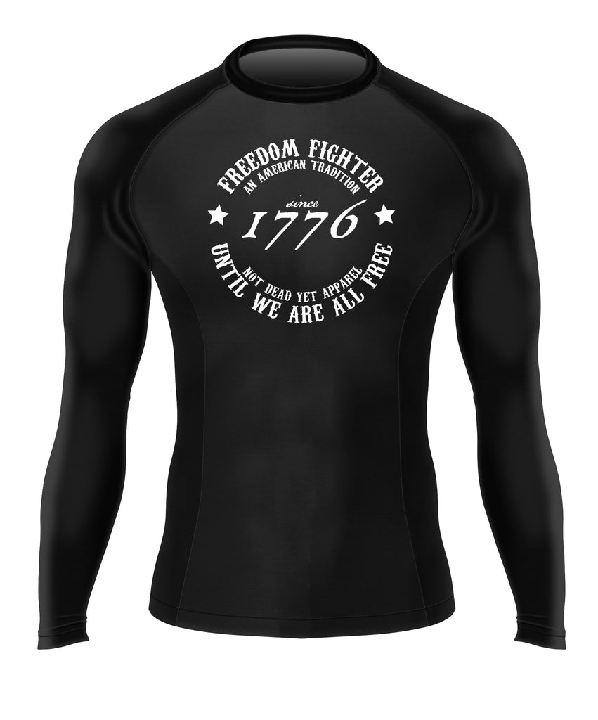 FREEDOM FIGHTER 1776 Men's BJJ Rash Guard - Not Dead Yet Apparel