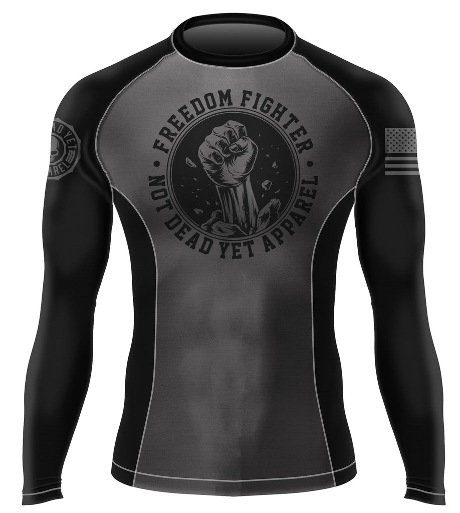 FREEDOM FIGHTER BJJ RASH GUARD - Not Dead Yet Apparel