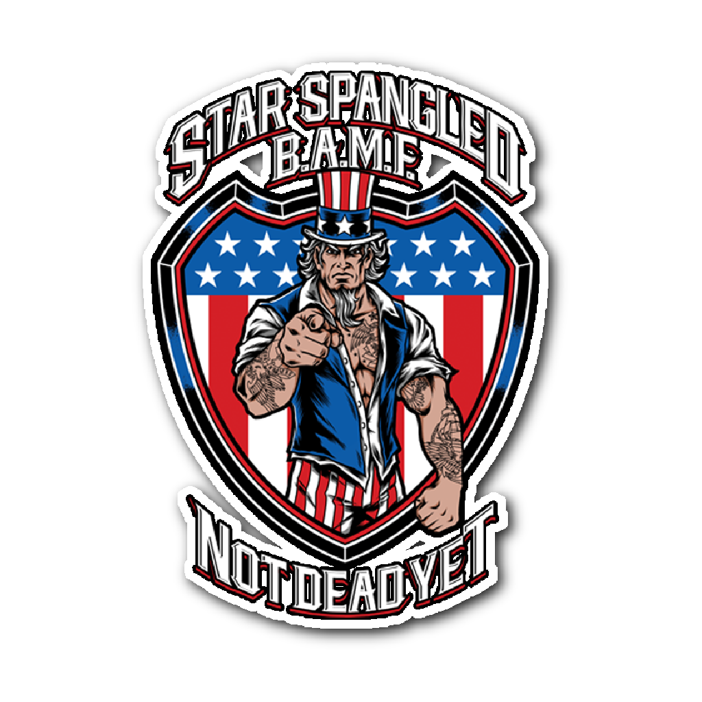 STAR SPANGLED BAMF STICKER - Not Dead Yet Apparel