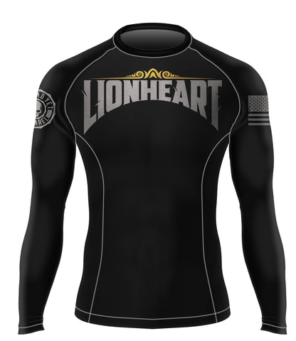 LIONHEART BJJ RASH GUARD - Not Dead Yet Apparel