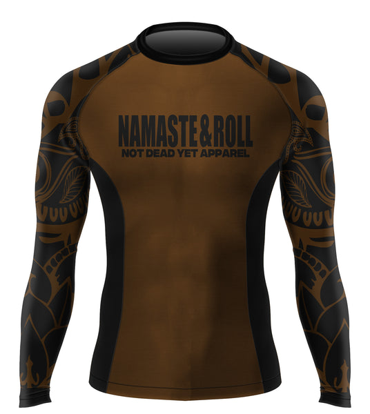 NAMASTE&ROLL BJJ RASH GUARD - Not Dead Yet Apparel