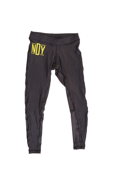 NDY Gold BJJ and Fitness Leggings/Spats - Not Dead Yet Apparel