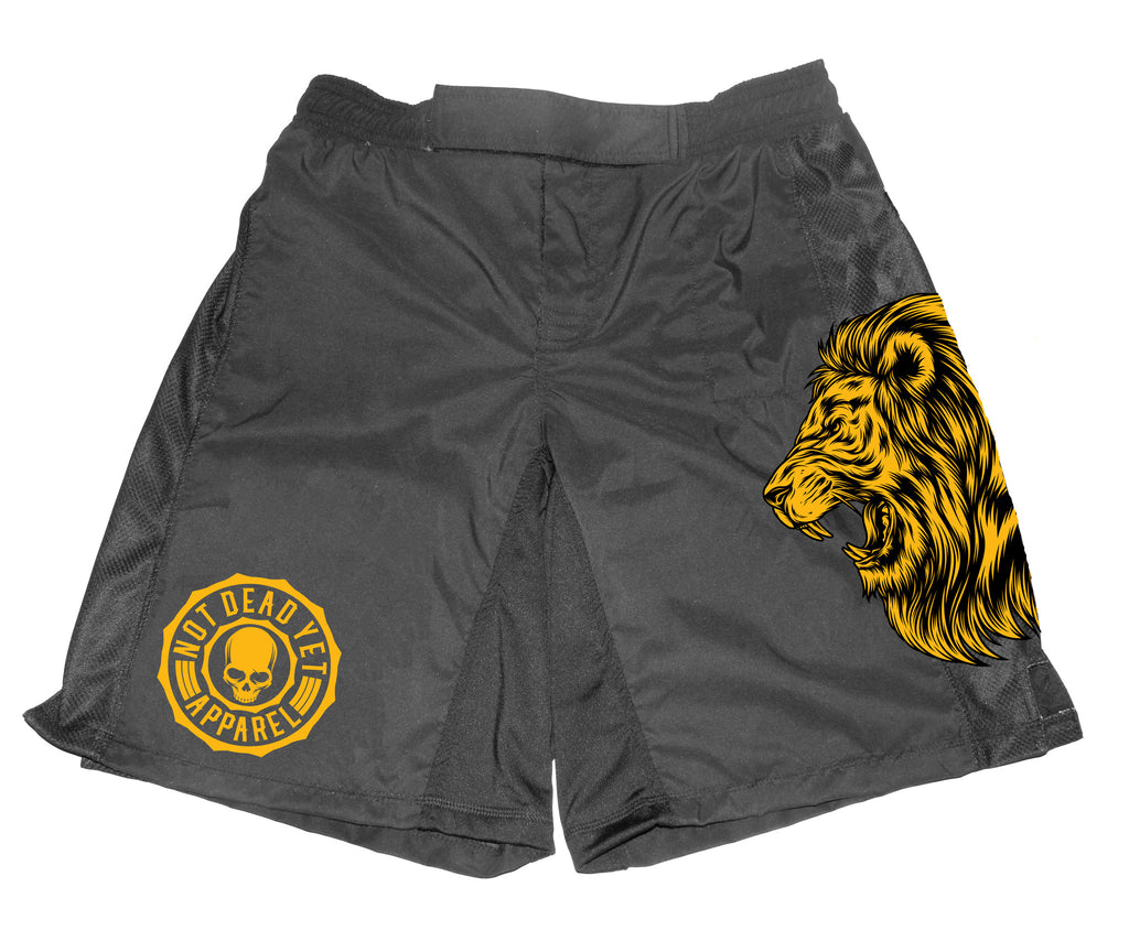NDY LION CROSS-TRAINING/ FIGHT SHORTS - Not Dead Yet Apparel