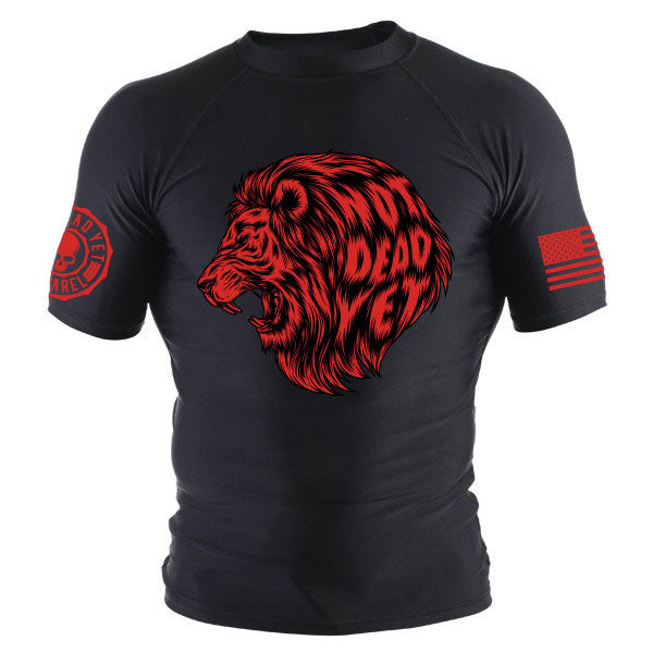 NDY LION BJJ RASH GUARD - Not Dead Yet Apparel