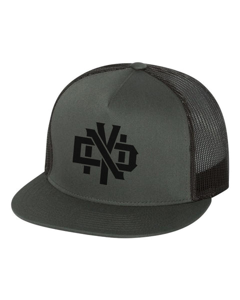 NDY STACKED trucker hat snap back - Not Dead Yet Apparel