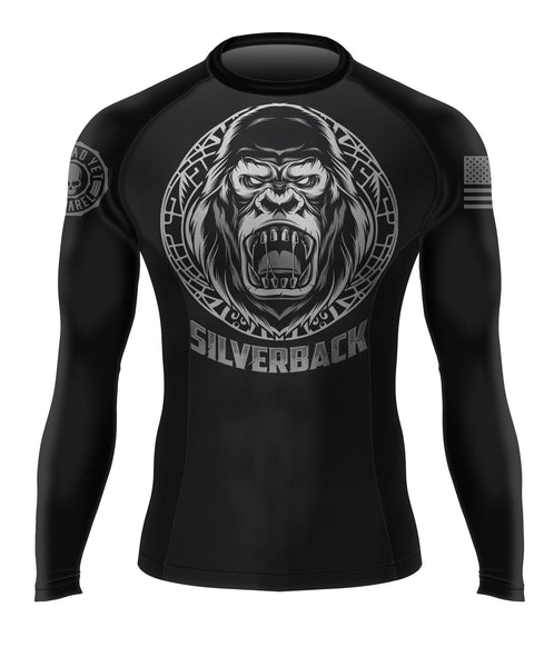 SILVERBACK Men's BJJ Rash Guard - Not Dead Yet Apparel
