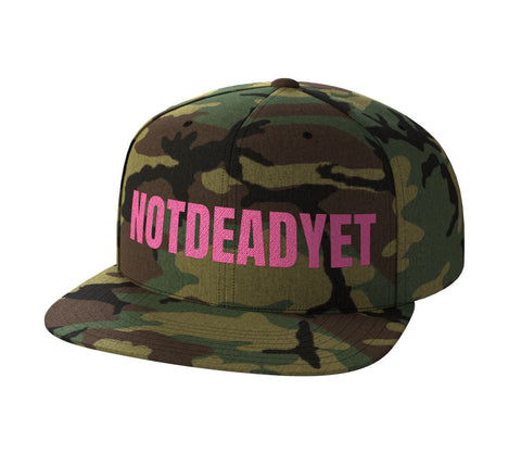 NOTDEADYET Pink 3D Puff Snap Back - Not Dead Yet Apparel