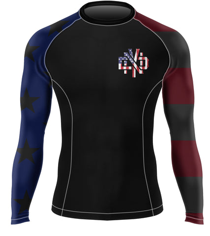 STAR SPANGLED BAMF BJJ RASH GUARD - Not Dead Yet Apparel