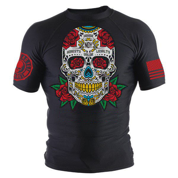 SUGAR SKULL 2.0 RASHGUARD - Not Dead Yet Apparel