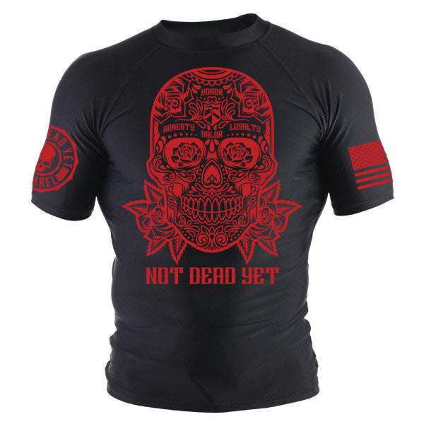 SUGAR SKULL BJJ RASH GUARD - Not Dead Yet Apparel