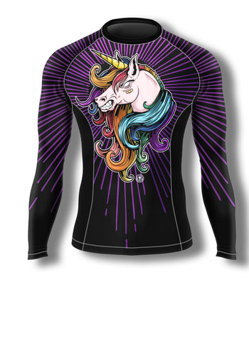 UNICORN! Ain't Nuthin Ta F' Wit! BJJ rash guard - Not Dead Yet Apparel