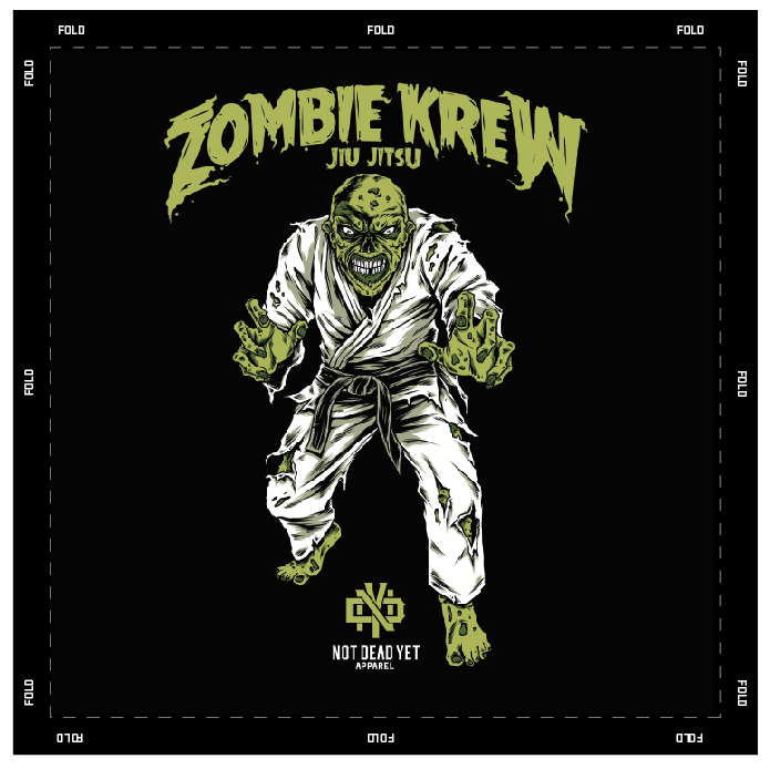 ZOMBIE KREW JIU-JITSU GI PATCH - Not Dead Yet Apparel