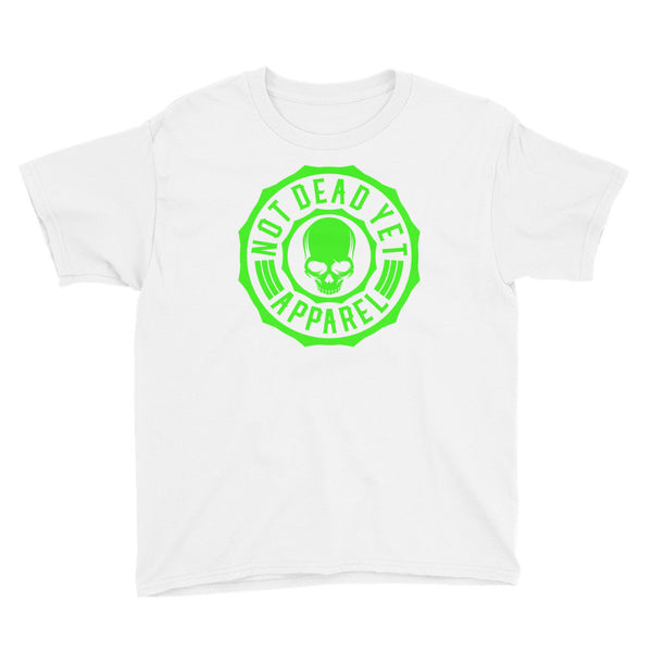NEON GREEN LOGO Youth Short Sleeve T-Shirt - Not Dead Yet Apparel
